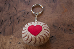 Fabric Biscuit Keyring